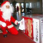 Santa drawing lucky winners