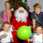 The Buret family having their photo taken with Santa