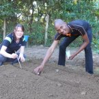 Gardening at Cotlands in Mzamomhle in celebration of Nelson Mandela Day
