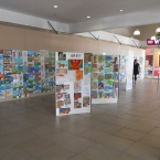 Primary school art competition display