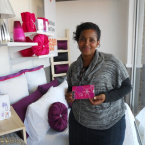 Belinda with a R500 Game gift voucher