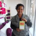 Belinda with a R5000 Sheet Street Gift Card