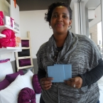 Belinda with 2 x R500 Pick n Pay Gift Cards