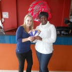 Thabelang recieved her first R250 in Wykato Spur Vouchers