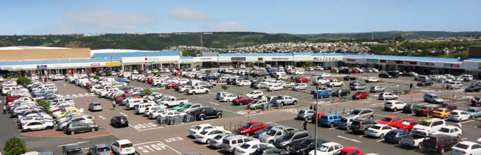 Aerial photo of Beacon Bay Retail Park