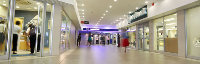Exhibition space at Beacon Bay Retail Park